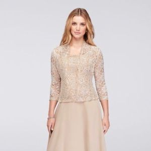 Emma Street sequin bodice/jacket long gown.